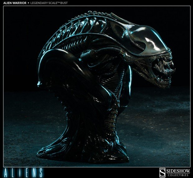 alien legendary scale warrior bust by sideshow collectibles 8 620x571