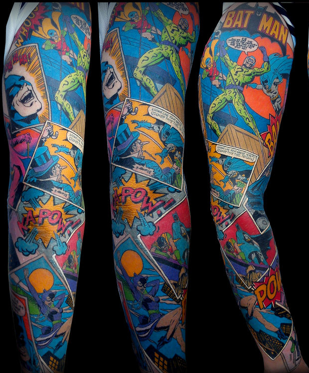 amazing batman sleeve tattoo 2