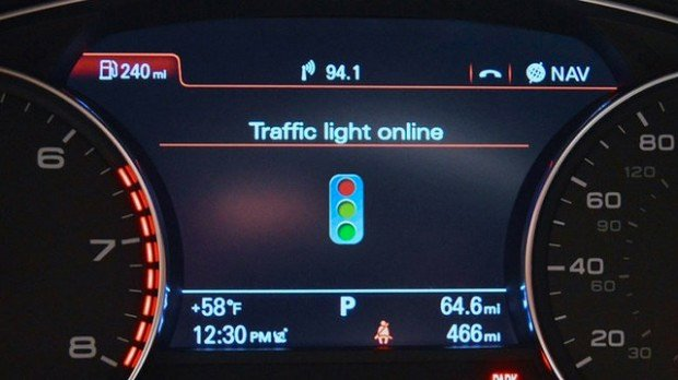audi traffic light recognition dashboard
