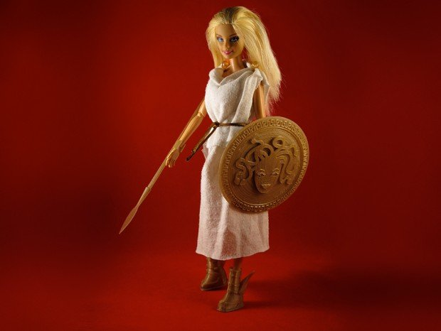 barbie doll medieval armor 3d print by jim rodda 2 620x466