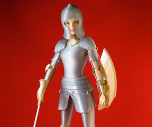 3D Printed Medieval Armor for Barbie Dolls: Woman-at-arms