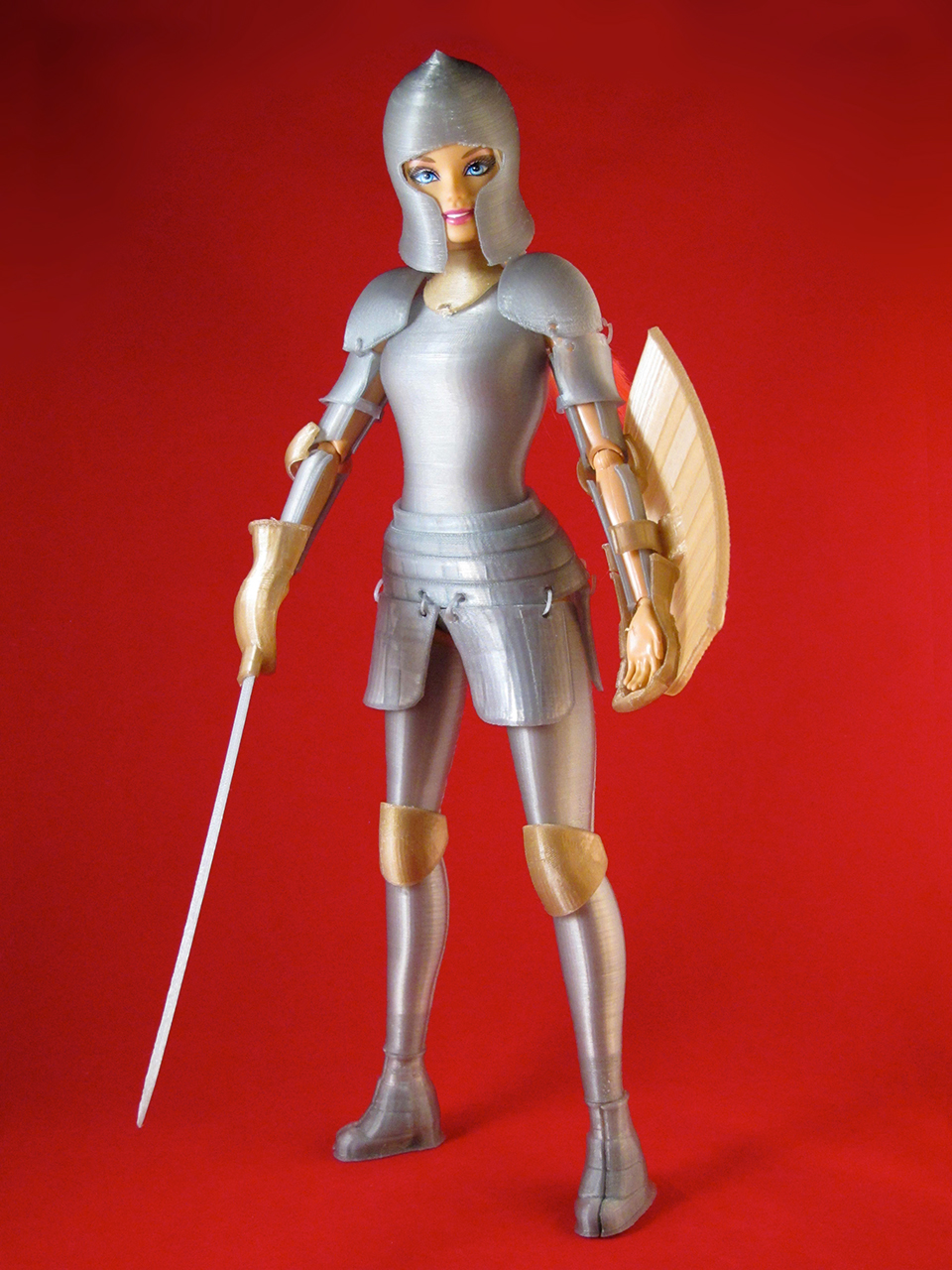 3d Printed Medieval Armor For Barbie Dolls Woman At Arms