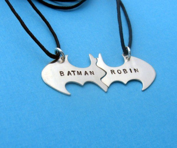Batman and Robin BFF Split Necklace for Dynamic Duos