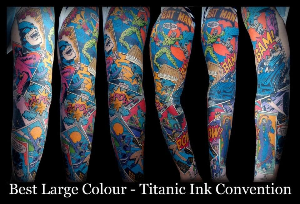Awesome Batman Sleeve Tattoo: Where Does He Get That Wonderful Ink? - Technabob