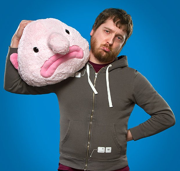 blobfish plush from thinkgeek