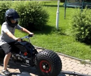 Dad Builds Kids a Batpod Replica