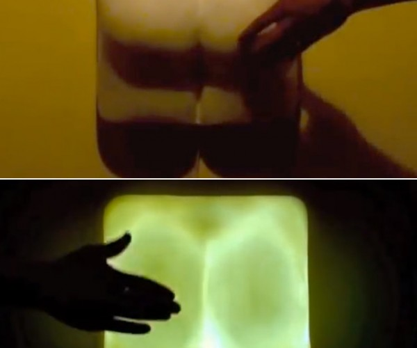 Butt-shaped Lamp: Pinch on, Slap off