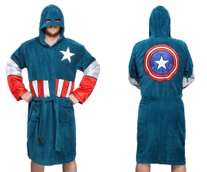 Captain America Robe Shields Our Eyes from Your Body