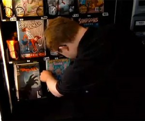 Comic Book Vending Machine Trades Coins for Geeky Reading Materials