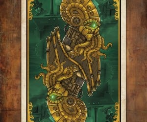 Steampunk Cthulhu Playing Cards: Play Go Fish with an Octopus