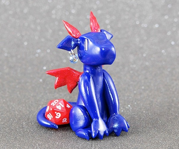 These Polymer Clay Dragons Will Hold Your Dice and Game Stuff
