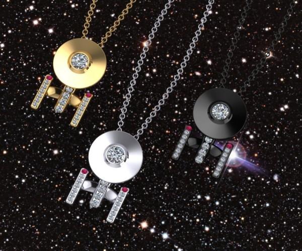 Starship Enterprise Necklace Boldly Goes Around Your Neck
