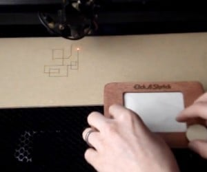 Etch A Sketch Laser Cutter: Burn A Wood