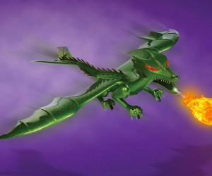 R/C Jet-Powered Dragon Shoots Flames and Burns Wallets