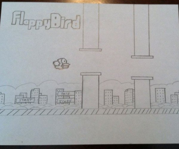 Guy Selling Flappy Bird Drawing for $1,000, Say What?