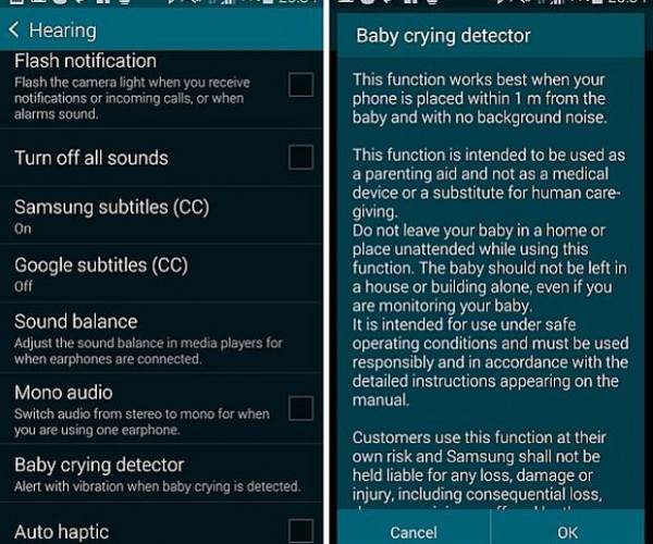 Samsung Galaxy S5 Has a Built In Baby Crying Detector in Case Your Ears Are Broken