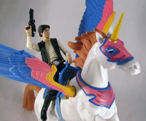 Han Solo Riding a Unicorn, Just Because.