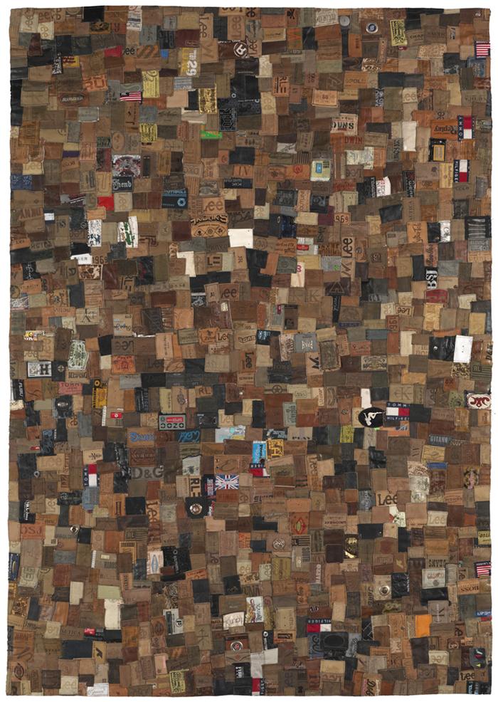 Most Branded Rug Ever Jeans Labels Carpet Technabob