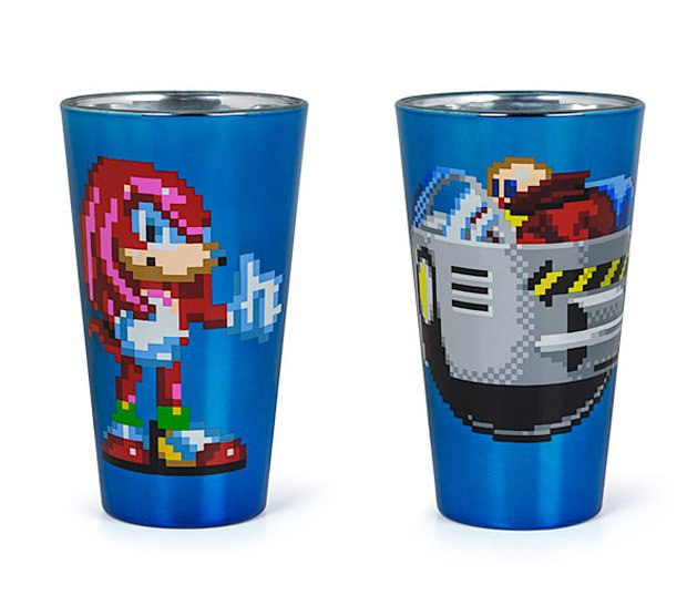 knuckles dr robotnik pint glasses