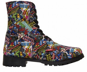 Marvel Comics Combat Boots: Laces Assemble!