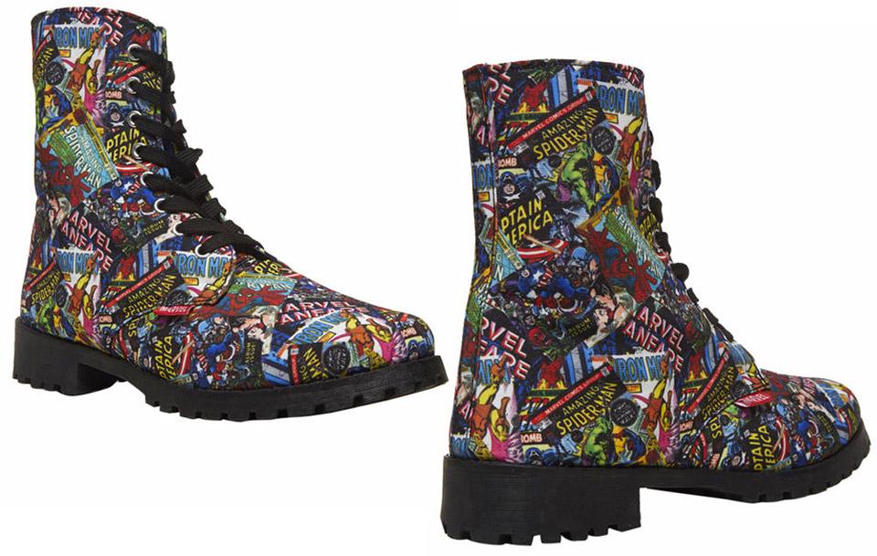Marvel Comics Combat Boots: Laces Assemble! - Technabob
