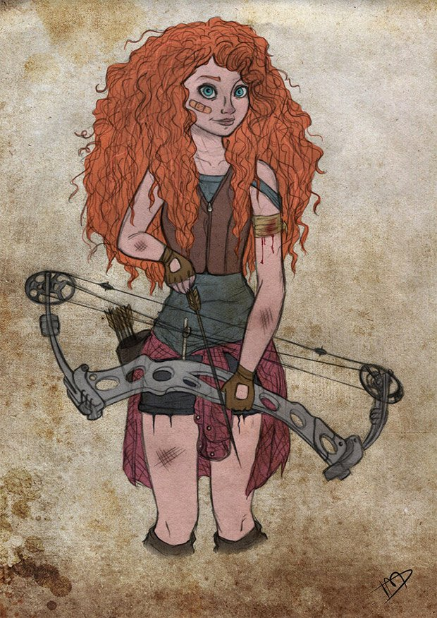 merida walking dead