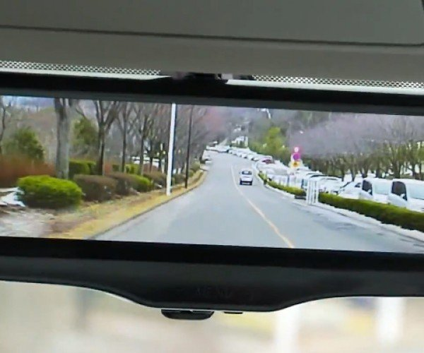 Nissan Rear-view Mirror Can Switch to Rear Camera View: Who's the Nearest of Them All?