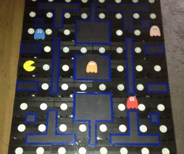 Pac-Man Coffee Table Made from Old VHS Tapes: Be Kind, Rewakka!