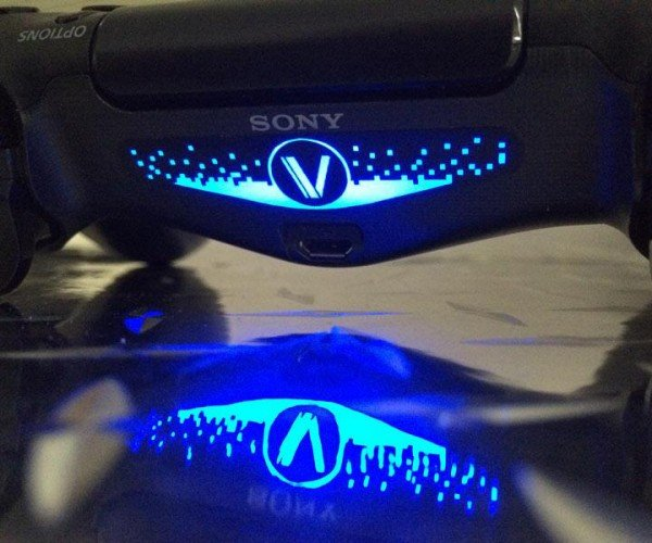 PS4 DualShock 4 Light Bar Decals: Your Sign Here