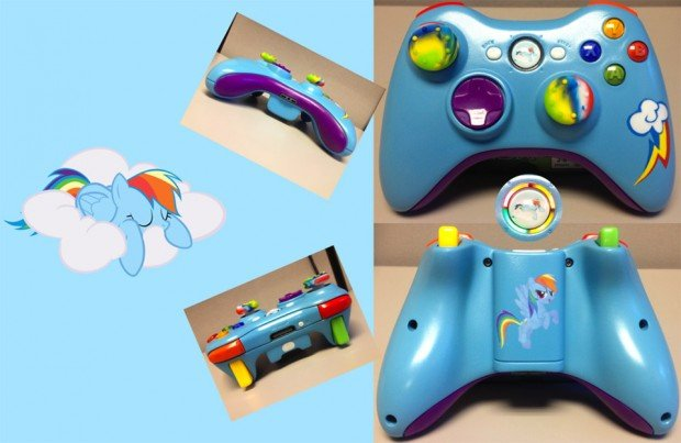 rainbow dash xbox 360 controller 620x403