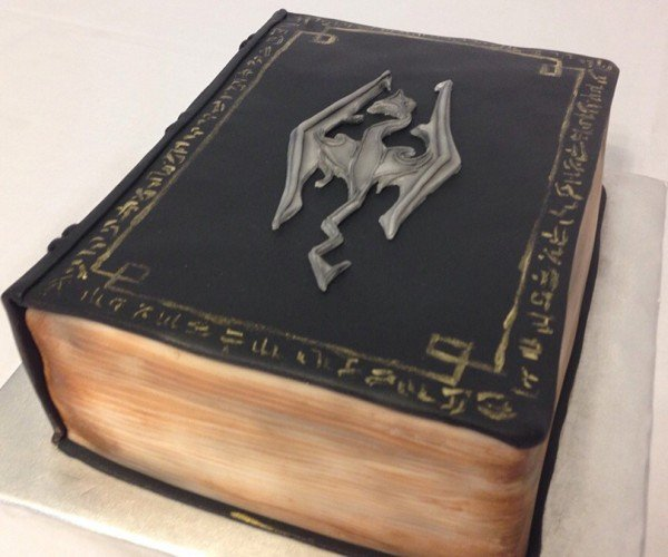 Skyrim Book Cake: I Must Read It with My Mouth
