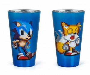 Sonic The Hedgehog Pint Glasses: 16 Ounces, 16 Bits