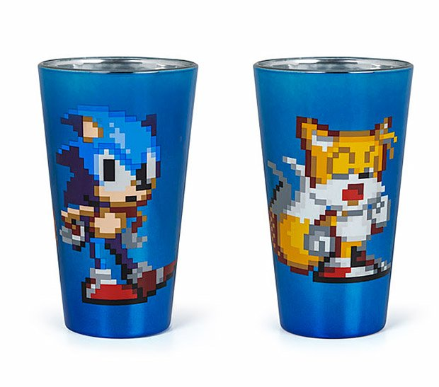 sonic tails pint glasses