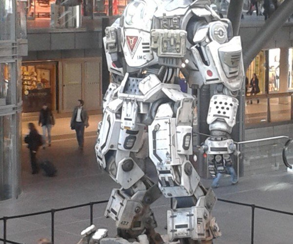 Life-sized Titanfall Mech Surfaces in Germany