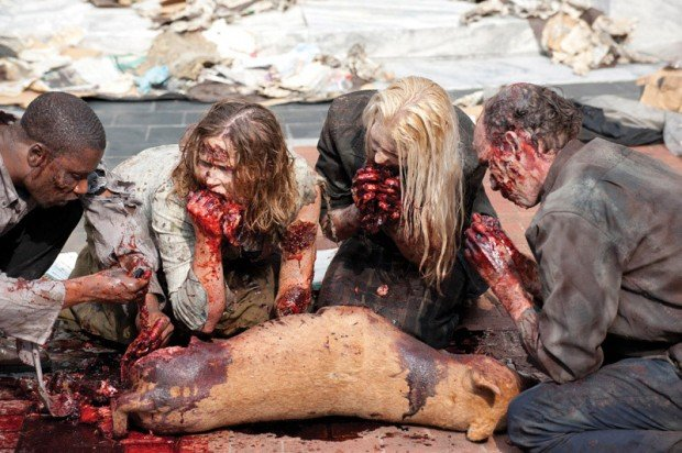 walking dead zombies eating 620x412