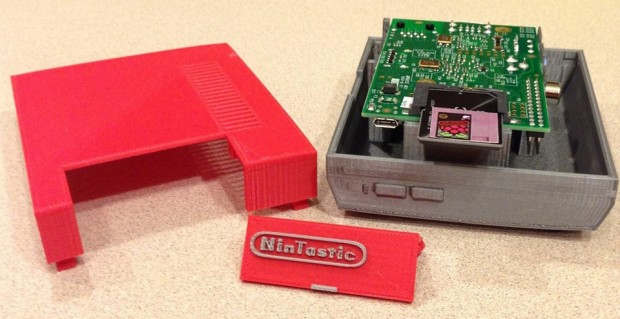 3d printed raspberry pi NES case by tastic007 2 620x319