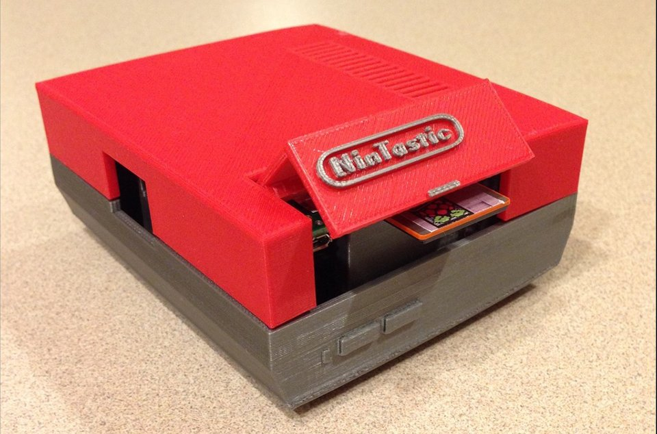 3D Printed Raspberry Pi NES Case: NinTastic - Technabob