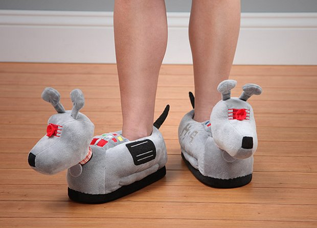 Doctor Who K 9 Slippers1