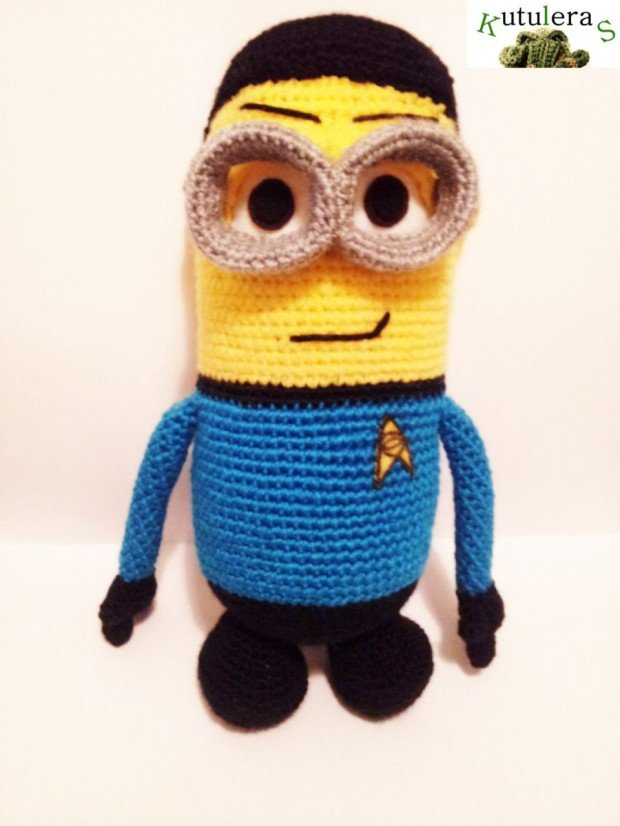 Spock Minion Amigurumi1