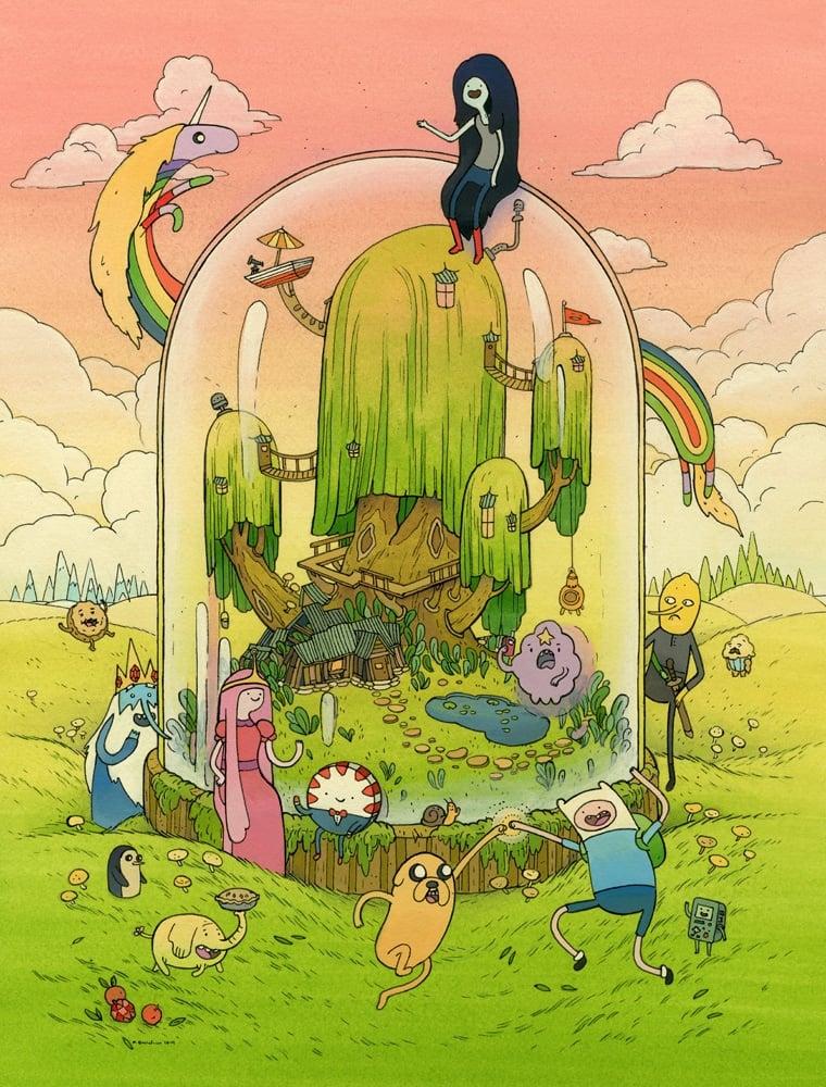 Adventure Time Art Show Rhombus Artclops