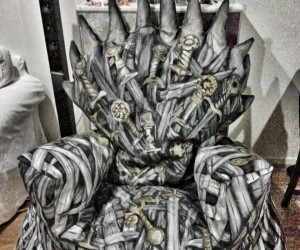 Bean Bag Iron Throne: A Song of Beads and Foam