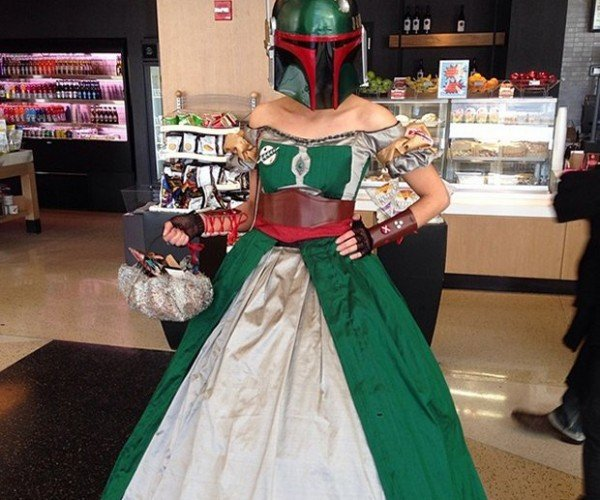 Boba Fett Ball Gown: Better Not Get on Her Bad Side