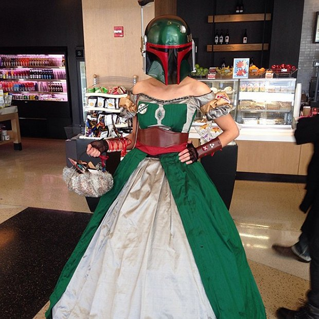 boba fett in gown