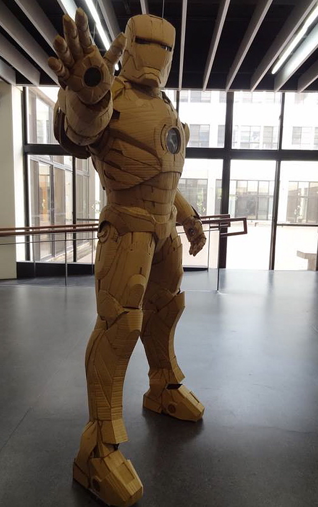 cardboard iron man suit by Kai Xiang Xhong