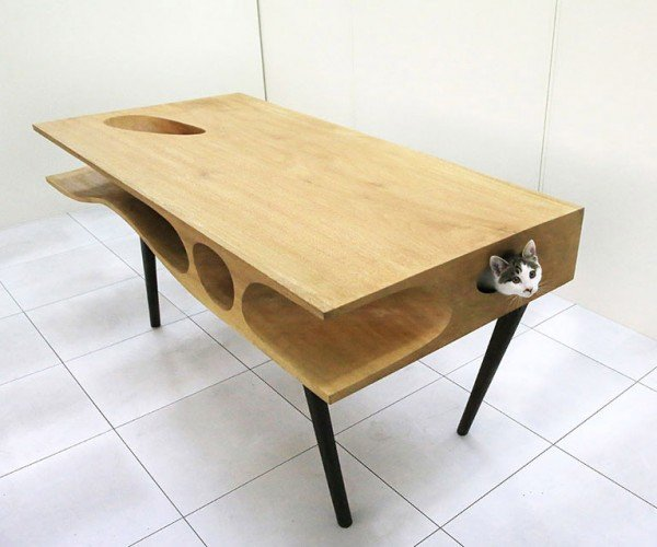 The CATable Keeps Kitty Inside, Instead of on Top of Your Desk