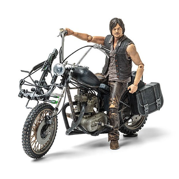 The Walking Dead Daryl Dixon Action Figure Gets His Hog