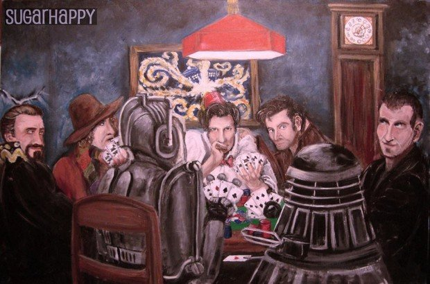 doctor who playing poker