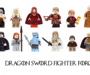 These Are Not Game of Thrones LEGO Minifigs: Dragon Sword Fighter Force