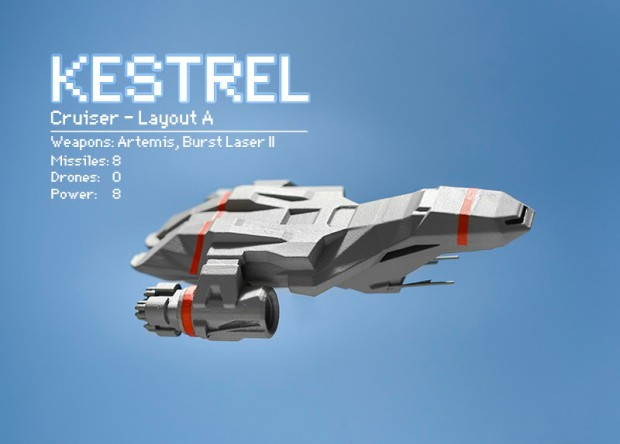 ftl faster than light kestrel 3d printed model by thelobsterclaw 2 620x444