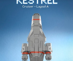 3D Printed FTL: Faster Than Light Kestrel Model: Rebel Piñata